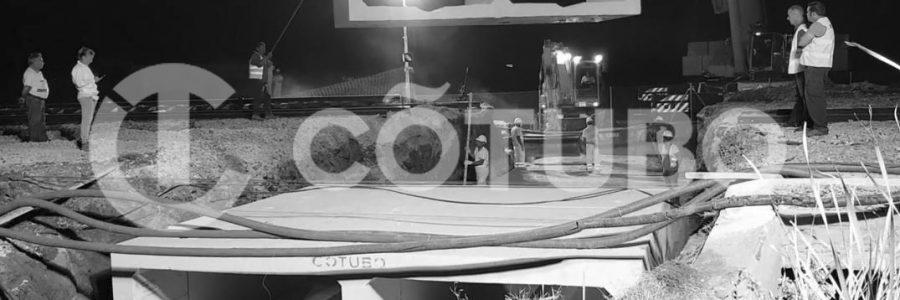 Marcos bicelulares en las vías del tren de Marchena.